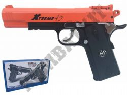 G&G Xtreme 45 CO2 Blowback Full Metal Airsoft BB Gun Black and Orange